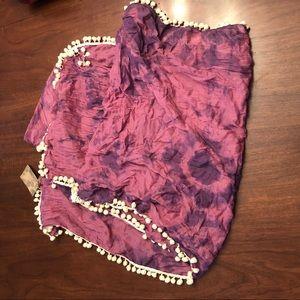Pink & purple scarf NWT
